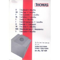 Thomas pop. filtrai maišeliai Turbo, Blue Power 787409